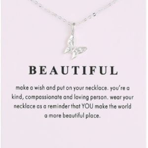 You're Beautiful Necklace-Silver